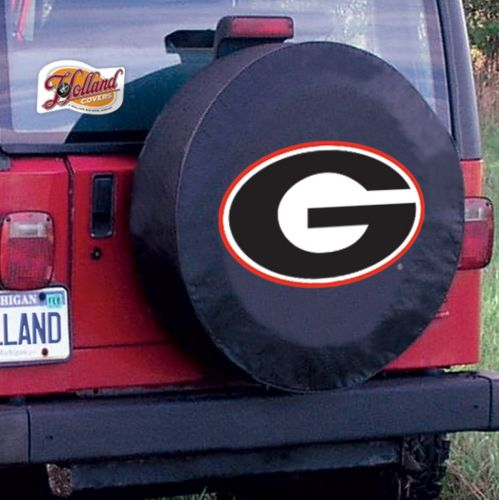 TeamSportsCovers Georgia Bulldogs G College Spare Tire Cover Size: E - 29.75 x 8 Inch