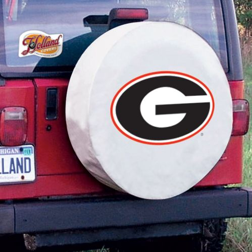 TeamSportsCovers Georgia Bulldogs G College Tire Cover Size: A - 34 x 8 Inch